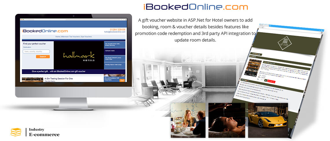 iBookedOnline - A gift voucher website in ASP.Net for Hotel owners to add booking, room & voucher details besides features like promotion code redemption and 3rd party API integration to update room details - Developed by Certified ASP.Net Developers of vedinfomedia